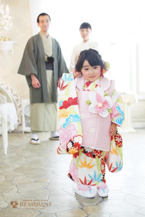 七五三 3才 女の子 京都 写真