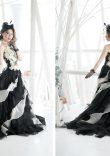 白黒セパレートドレス