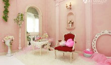 スタジオ内装 ピンク