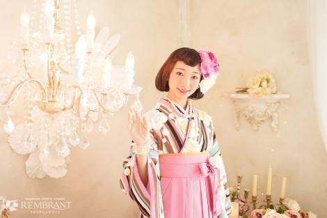 袴 卒業式  記念写真 女性
