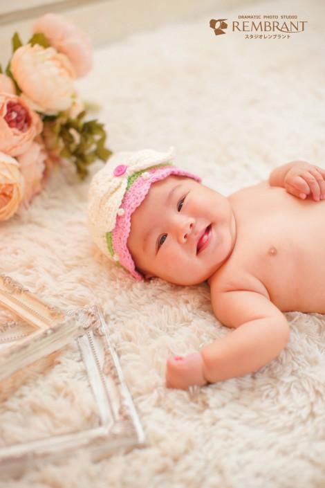赤ちゃんフォト 可愛い 女の子 3か月