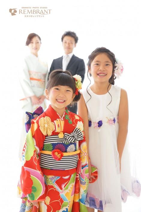 七五三 京都 家族写真 姉妹