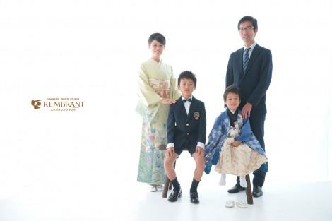 七五三 家族写真 袴
