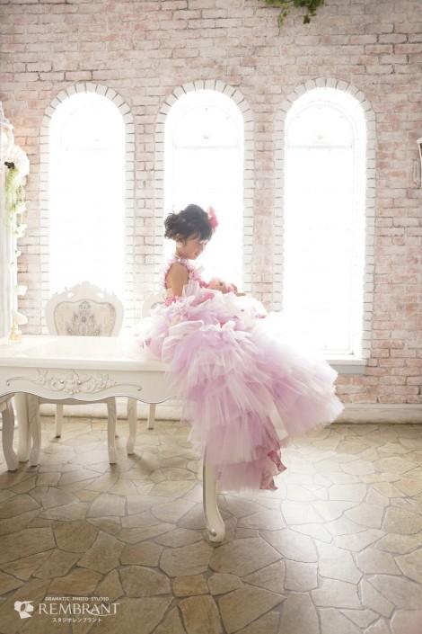 七五三 ドレス オシャレ ピンク 紫