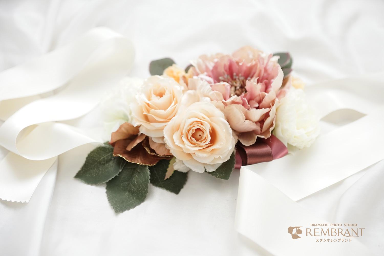手作り マタニティ サッシュベルト 可愛い お花