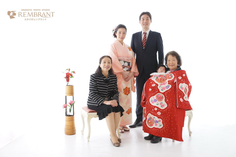お宮参り ご家族写真