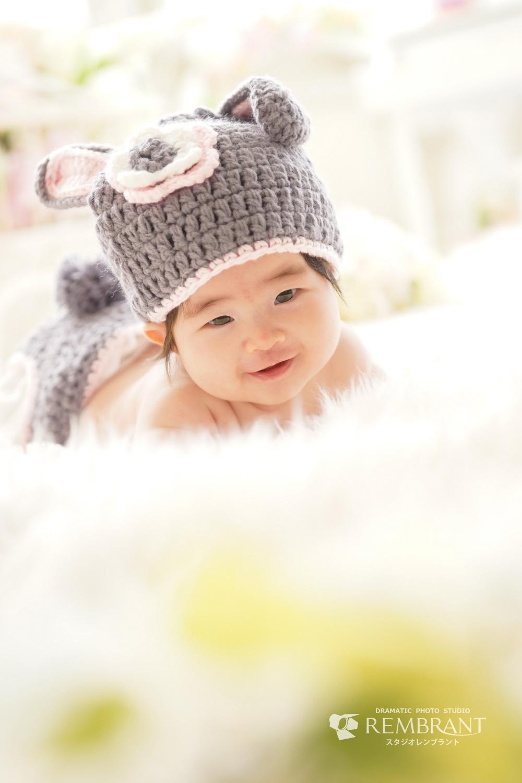 赤ちゃん ニットのうさぎさん