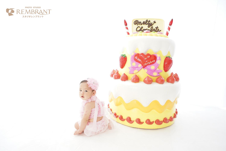 お誕生日フォト ケーキ