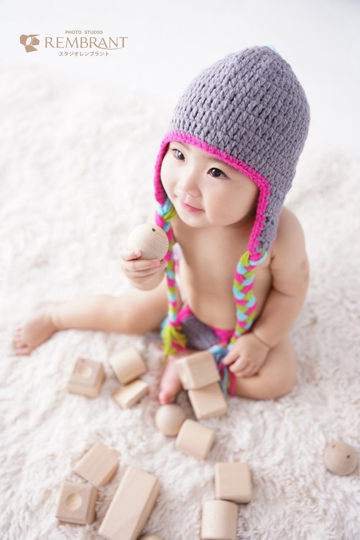 ハーフバースデー 赤ちゃん写真