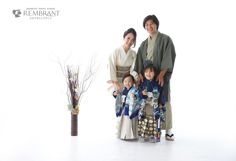 七五三 家族写真 和装