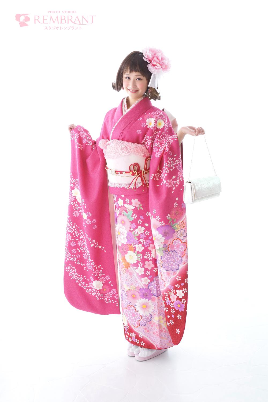 オシャレ 成人式 前撮り ピンク