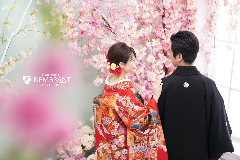 和装ウエディング 桜