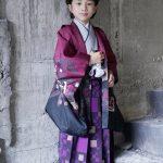 七五三 5才男の子 羽織袴 紫