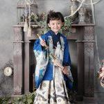 七五三 5才男の子 羽織袴 青