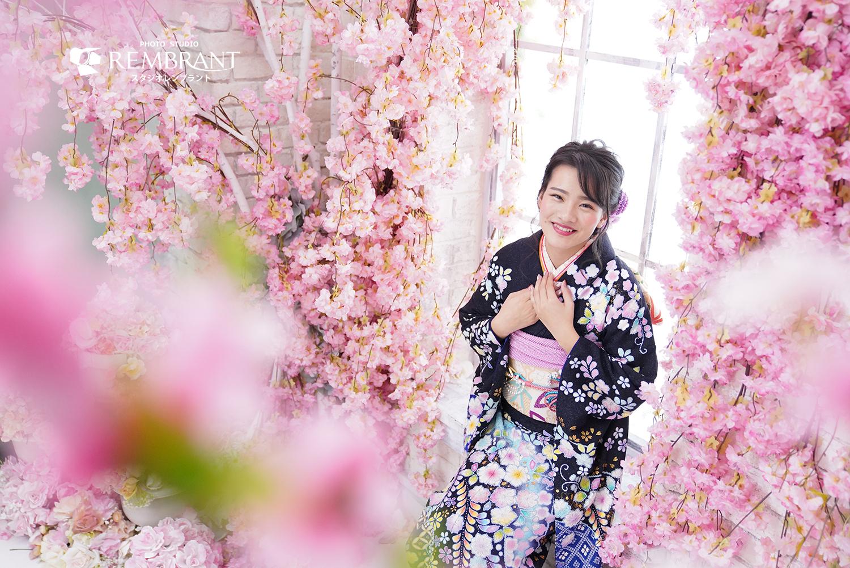 成人式 前撮り 桜