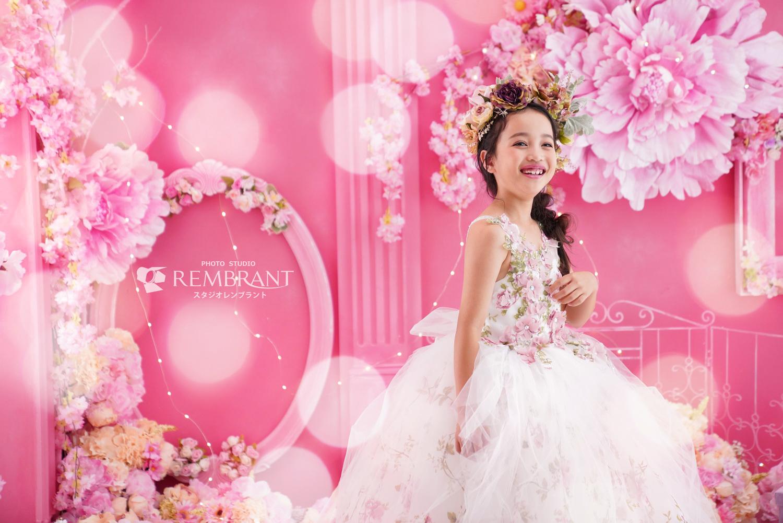 ピンク お花 ドレス