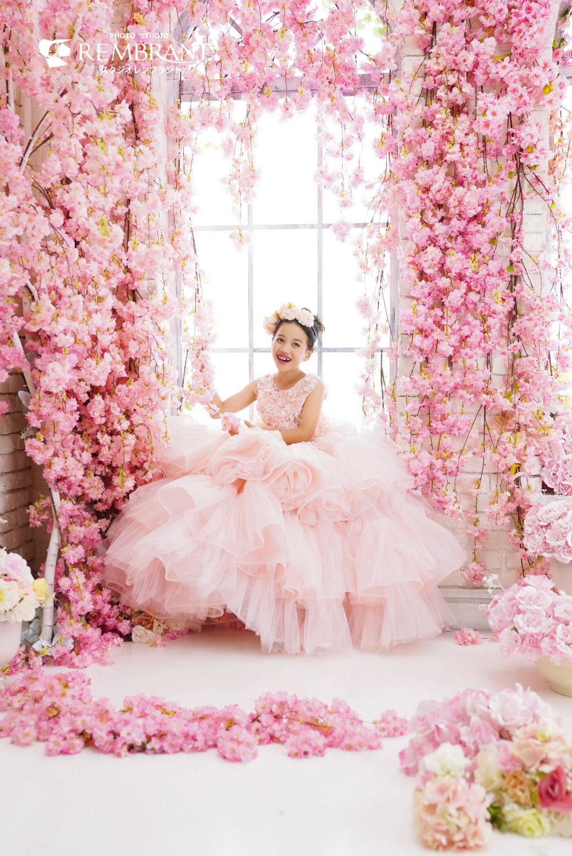 ピンクドレス撮影会 桜