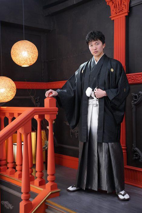 黒紋付袴 男性成人式