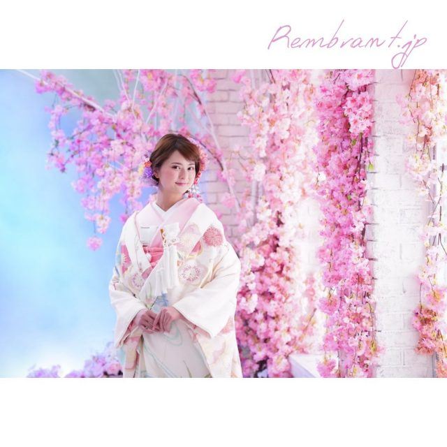 ウエディングフォト-和装×桜